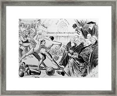 College Athletics Framed Print by Granger