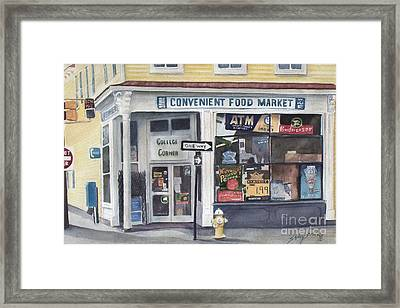 College Corner Original...sold Framed Print