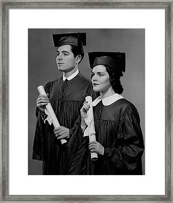 College Graduation Framed Print by George Marks