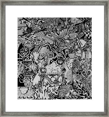 College Years Framed Print by MikAn 'sArt