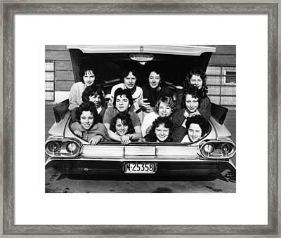 Collegiate Fun, 1960 Framed Print by Granger