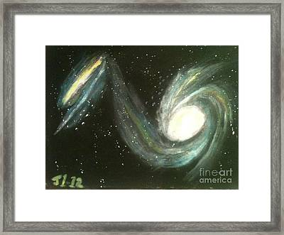 Colliding Galaxies Framed Print by James Courtney
