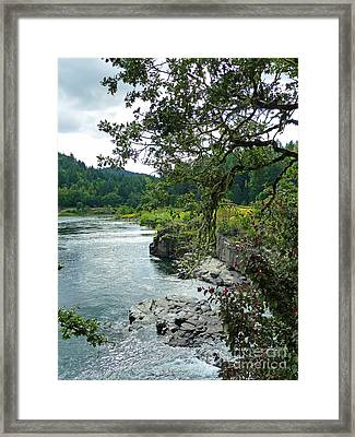 Colliding Rivers Framed Print by Methune Hively