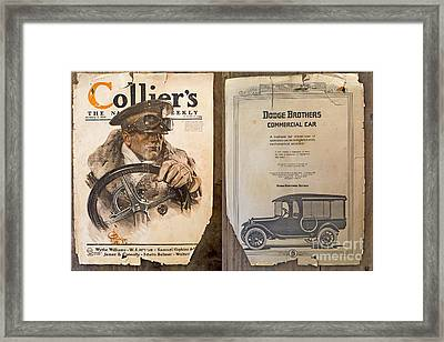 Colliers Cover Both Sides Jan 5 1918 Framed Print by Roy Foos