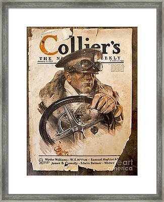 Colliers Cover Jan 5 1918 Framed Print by Roy Foos