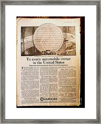 Colliers Jan 5 1918 Pg 25 Framed Print by Roy Foos