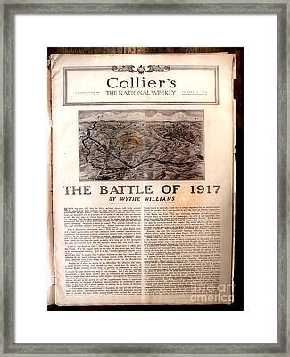 Colliers Jan 5 1918 Pg 5 Framed Print by Roy Foos