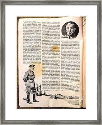 Colliers Jan 5 1918 Pg 6 Framed Print by Roy Foos