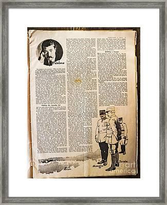 Colliers Jan 5 1918 Pg 7 Framed Print by Roy Foos