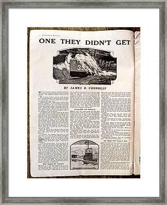 Colliers Jan 5 1918 Pg 8 Framed Print by Roy Foos