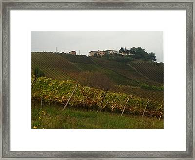 Colline Pavesi Framed Print by B Russo