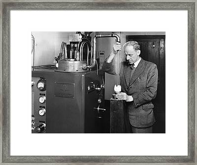 Collins Helium Cryostat, 1953 Framed Print by National Physical Laboratory (c) Crown Copyright