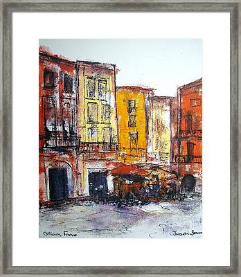 Collioure - La Place Framed Print