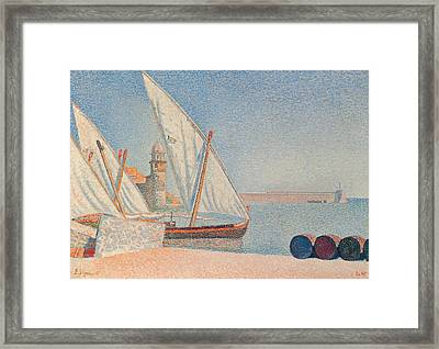 Collioure Les Balancelles Framed Print by Paul Signac