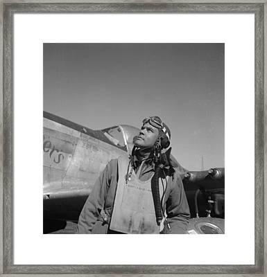Colonel Benjamin O. Davis At An Air Framed Print by Everett