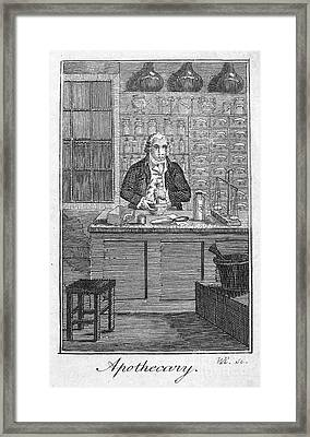 Colonial Apothecary Framed Print by Granger