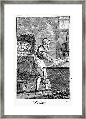 Colonial Baker, C1800 Framed Print by Granger