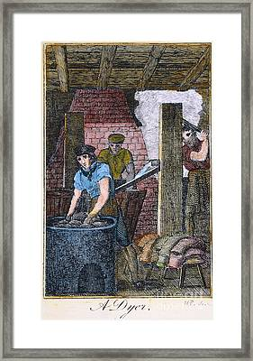 Colonial Dyer, 18th C Framed Print by Granger