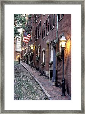 Colonial Era Town Houses And American Framed Print