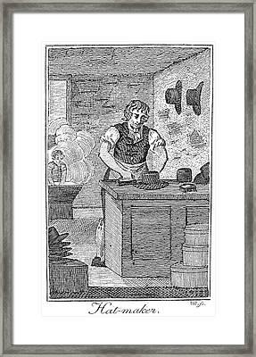 Colonial Hatter Framed Print by Granger