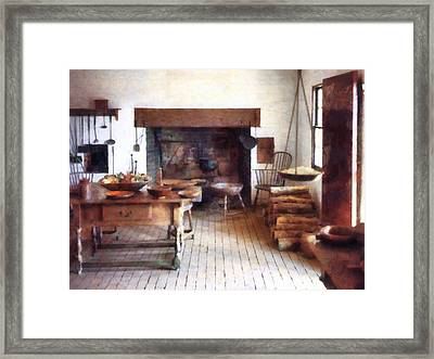 Colonial Kitchen Framed Print by Susan Savad