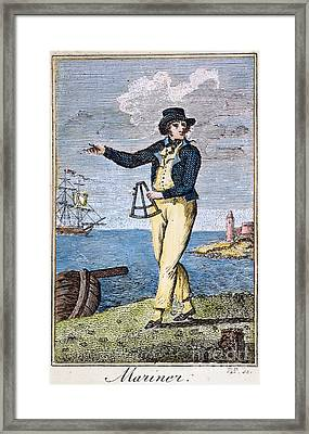 Colonial Mariner, 18th C Framed Print by Granger