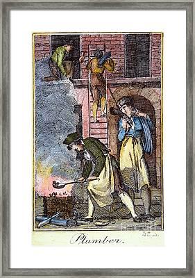 Colonial Plumber Framed Print by Granger