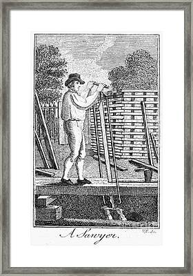 Colonial Sawyer Framed Print by Granger