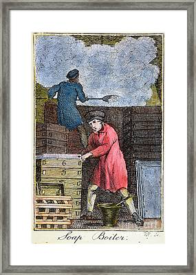 Colonial Soapmaker, 18th C Framed Print by Granger