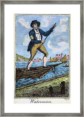 Colonial Waterman, 18th C Framed Print by Granger
