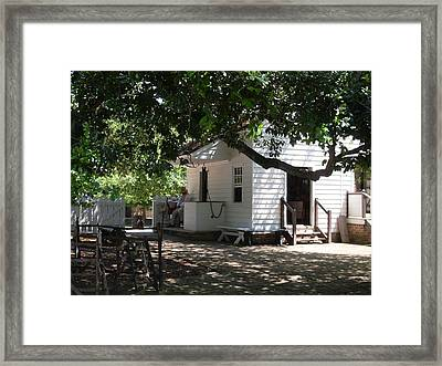 Colonial Weaver's Building Framed Print by Lisa A Bello