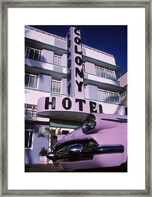 Colony Hotel Framed Print