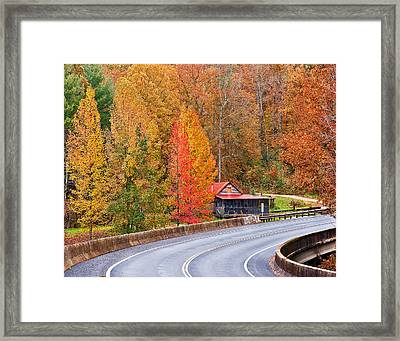 Color At New River Framed Print by Charles Fletcher
