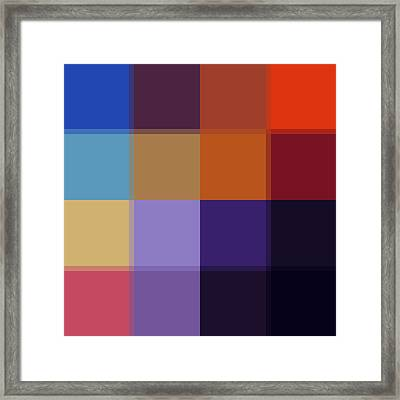 Color Block Colorful I By Madart Framed Print by Megan Duncanson