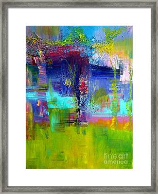 Color Blocks Framed Print by Claire Bull
