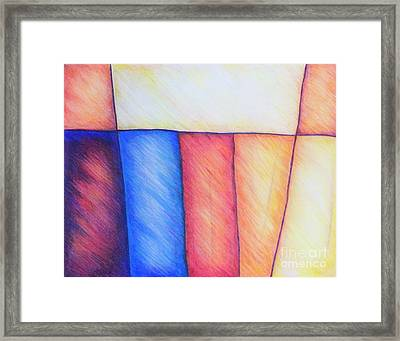 Color Block Framed Print