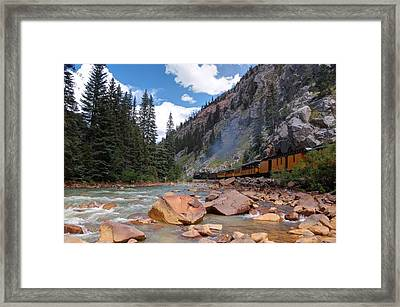 Color Canyon Steam Framed Print by Ken Smith