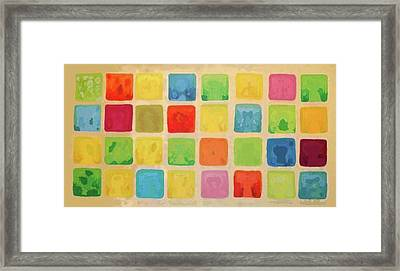 Color Collage 1 Framed Print by Marilyn West