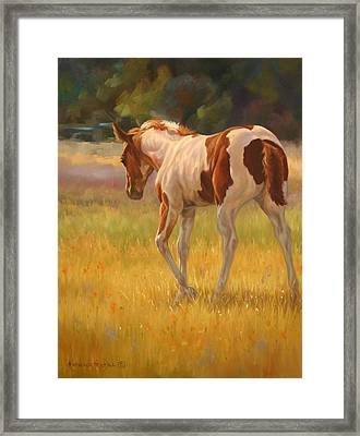 Color Foal Framed Print by Kathleen  Hill