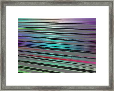 Framed Print featuring the digital art Color Fun 2 by Jeff Iverson