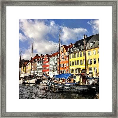 Color In Copenhagen Framed Print