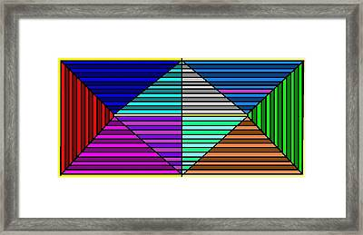 Color Lines Framed Print by Rachael McIntosh