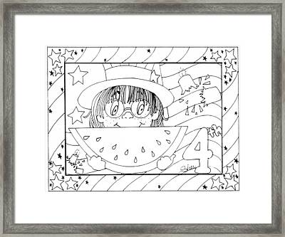 Color Me Card - 4th Of July Framed Print