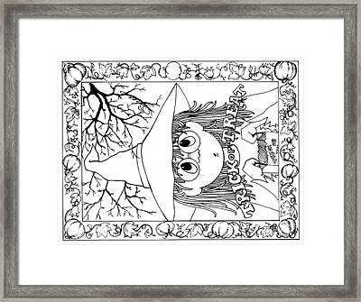 Color Me Card - Halloween Framed Print