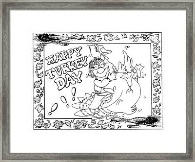 Color Me Card - Thanksgiving Framed Print