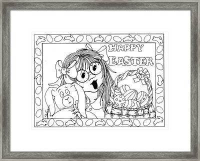 Color Me Card - Easter Framed Print