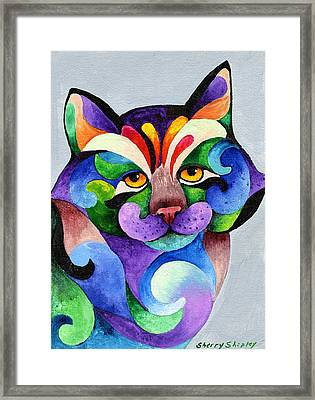 Color Me Smug Framed Print
