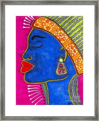 Color Me Vibrant Framed Print by Angela L Walker