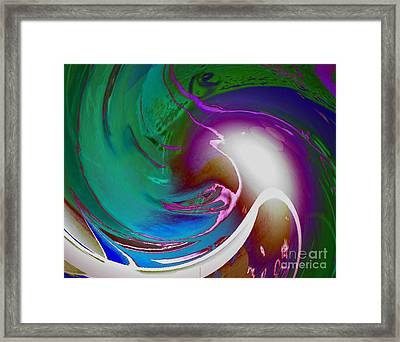 Color Modules Green-blue Framed Print