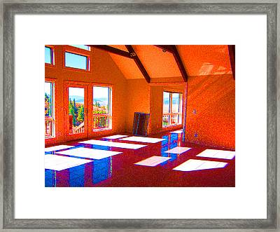 Color My Space Framed Print by Dee Fabian